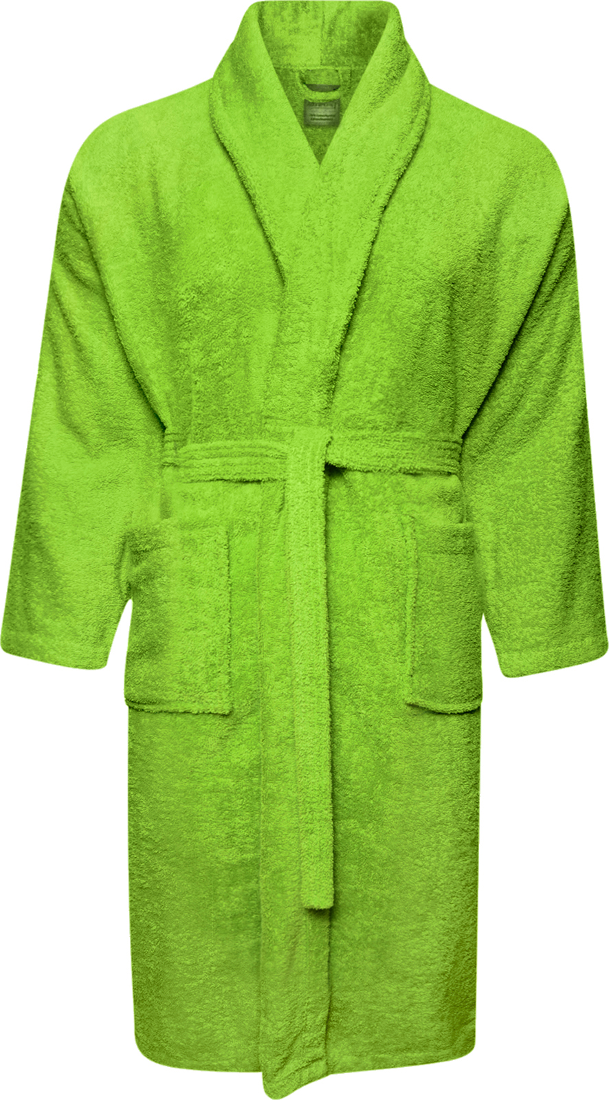 super service ever popular various styles Details about 100% Cotton Terry Towelling Shawl Collar Lime Green Bathrobe  Dressing Gown Robe