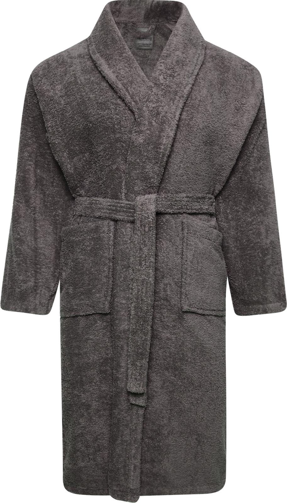 Mens Ladies 100 Cotton Terry Toweling Shawl Grey Bathrobe Dressing Gown Robe Ebay